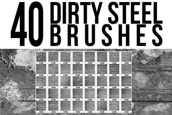 Dirty Steel Brushes Photoshop brush