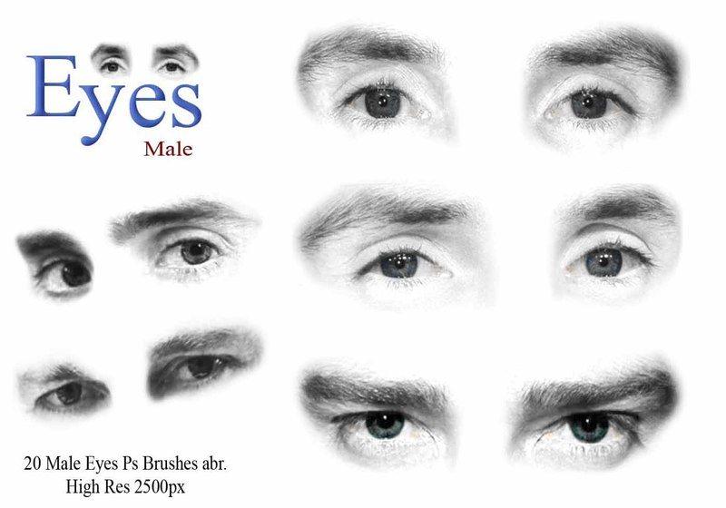 Male Eyes Ps Brushes  Photoshop brush