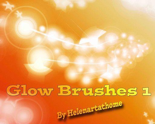 Glow Brushes1 Photoshop brush