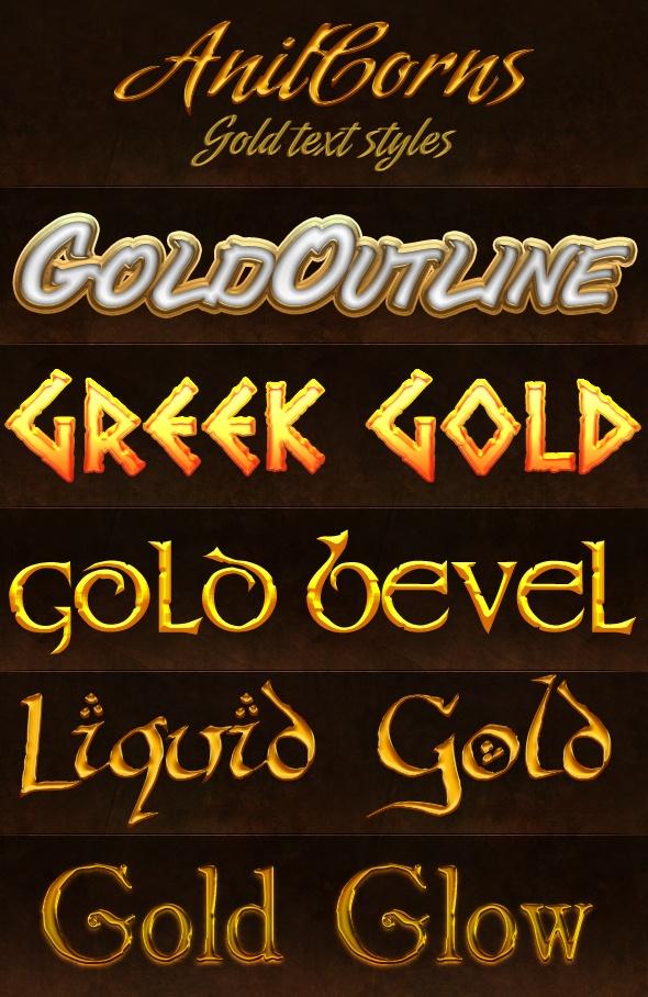 Gold Styles Photoshop brush