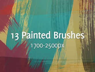 Painted Strokes Photoshop brush
