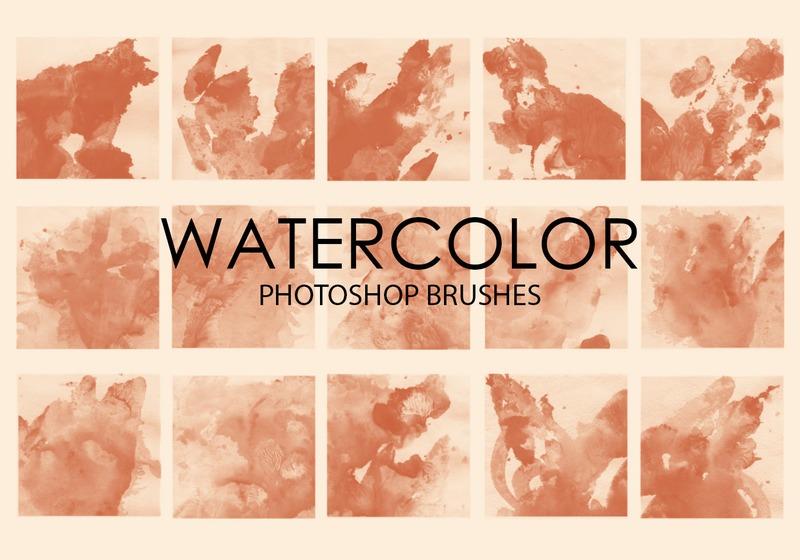 Free Watercolor Wash Photoshop Brushes 6 Photoshop brush