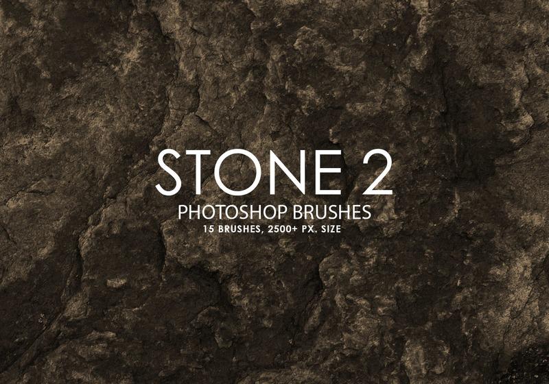 Free Stone Photoshop Brushes 2 Photoshop brush