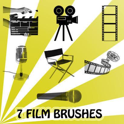 7 Film Brushes Photoshop brush