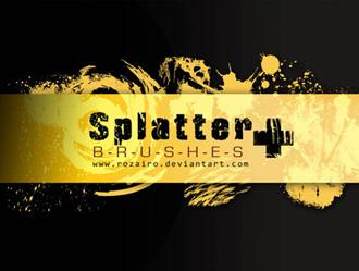 Splatter + Photoshop brush