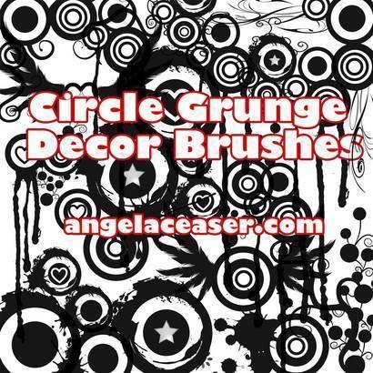 Grunge Cirle Decor Brush Demo by AngelaDesigns Photoshop brush