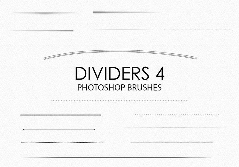 Free Hand Drawn Dividers Photoshop Brushes 4 Photoshop brush