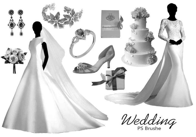 20 Wedding PS Brushes abr. vol.9 Photoshop brush