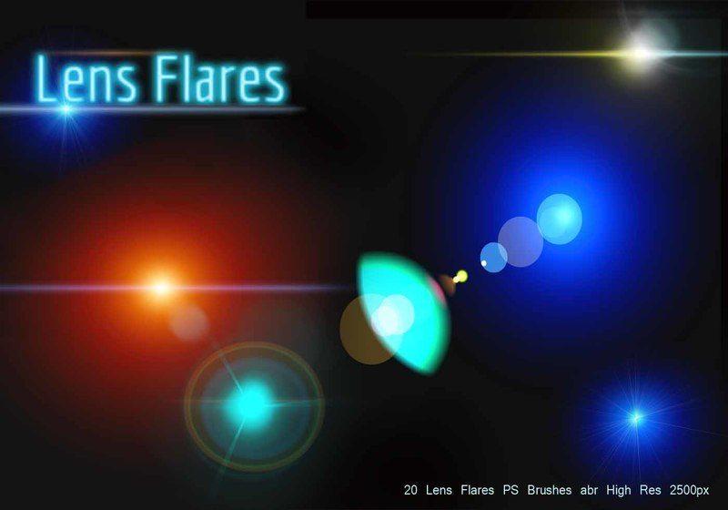 Lens Flares PS Brushes abr Photoshop brush