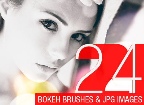 24 Abstract Bokeh Brushes Photoshop brush