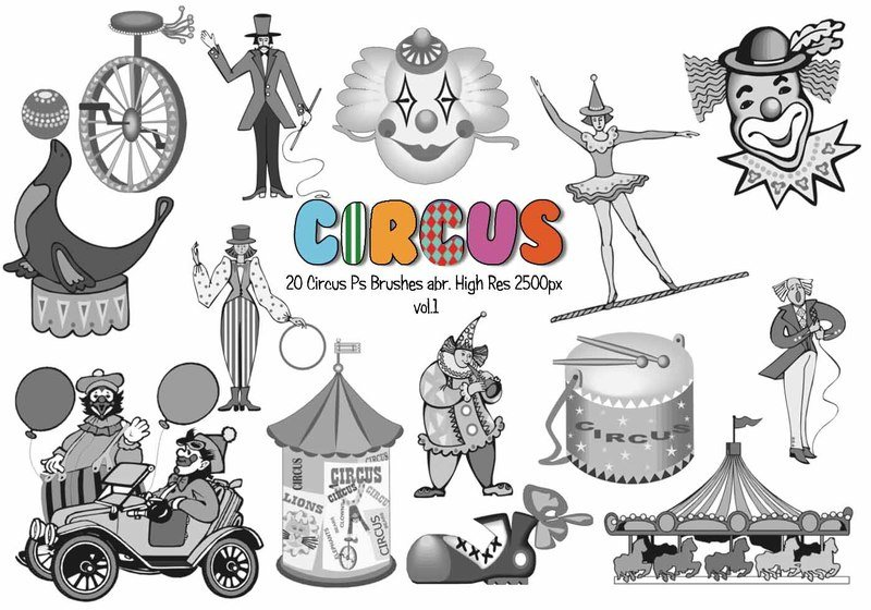 20 Circus Ps Brushes abr. vol.1 Photoshop brush