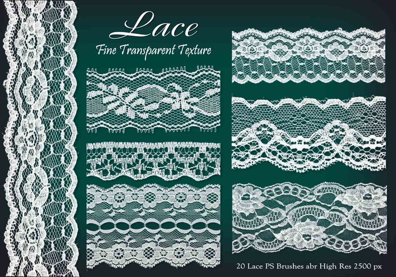 20 Lace PS Brushes abr vol 5 Photoshop brush
