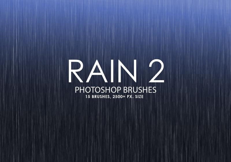 Free Rain Photoshop Brushes 2 Photoshop brush