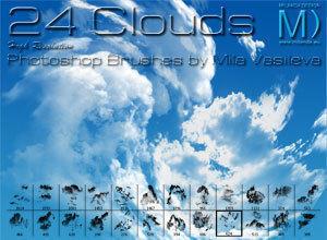24 Clouds Photoshop brush
