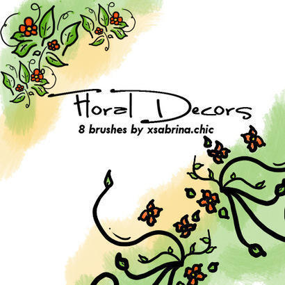 Floral Decor Art Brushes Photoshop brush