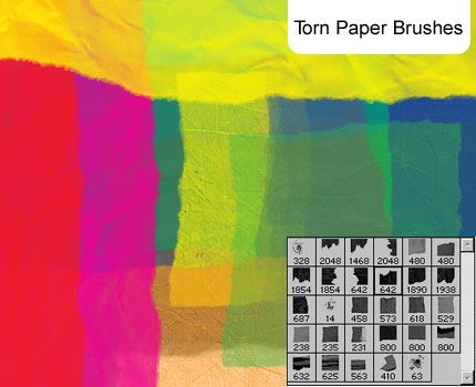 Torn Paper brushes Photoshop brush