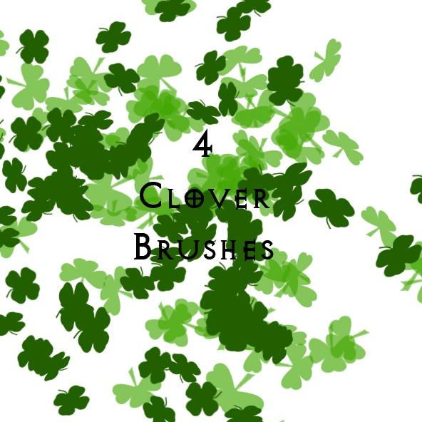 4 Leaf Clovers Photoshop brush