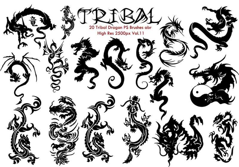 Tribal PS Brushes Vol.11 Photoshop brush