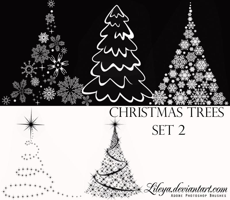 Christmas Tree brushes Set 2 Photoshop brush