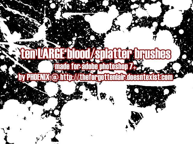 Blood Brushes Photoshop brush