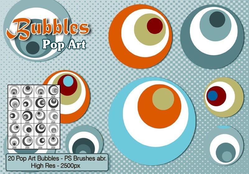 Pop Art Bubble Brushes Photoshop brush