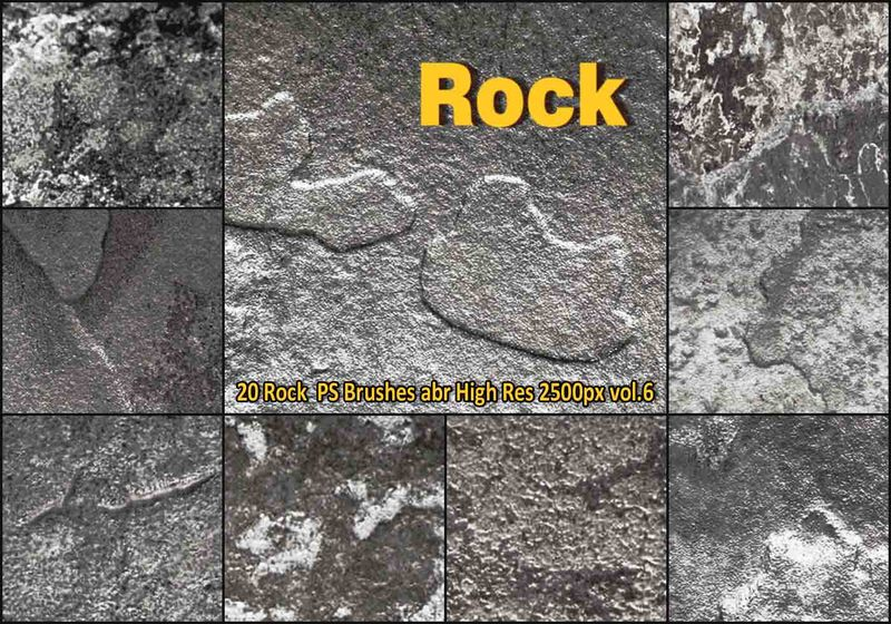 Rock Texture PS Brushes abr vol.6 Photoshop brush
