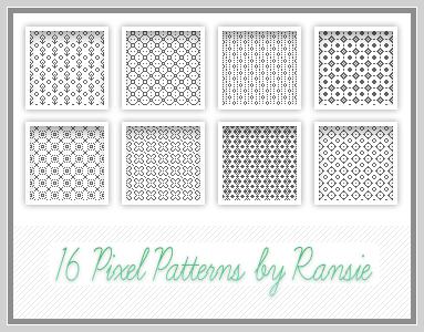 Pixel Patterns 01 Photoshop brush