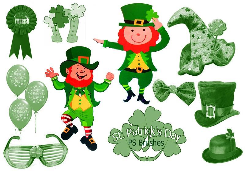 "20 ""St Patricks Day"" PS Brushes abr.Vol. Photoshop brush"