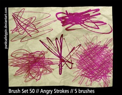 Angry Strokes Photoshop brush