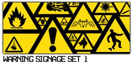 Warning Signage Set 1 Photoshop brush