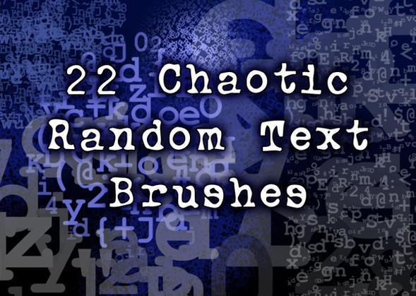 22 Chaotic Random Text Brushes Photoshop brush