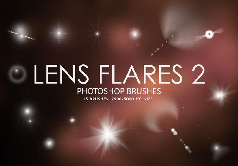Free Lens Flares Photoshop Brushes 2 Photoshop brush
