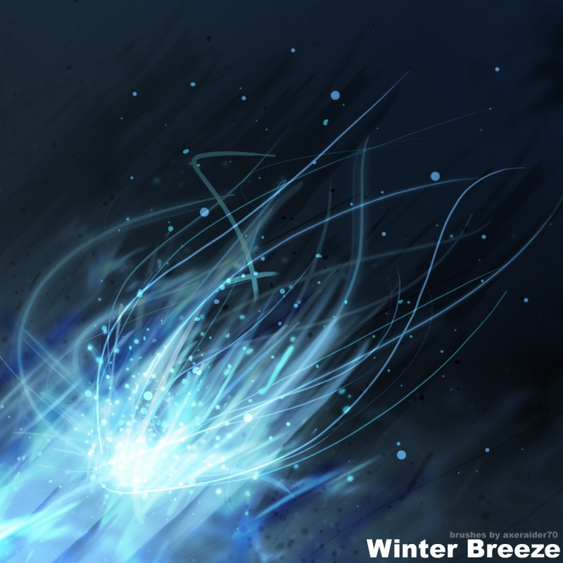 Winter Breeze Brushes Photoshop brush