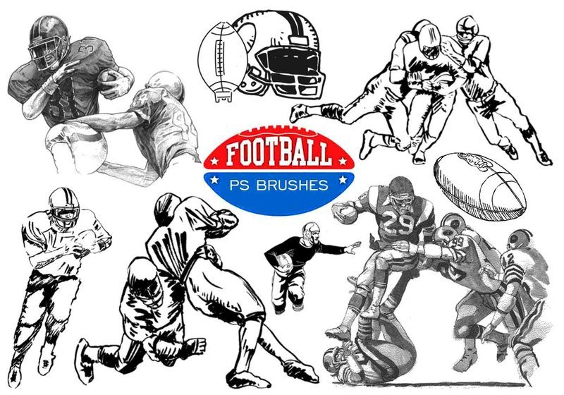 20 Football Ps Brushes abr. vol 8 Photoshop brush