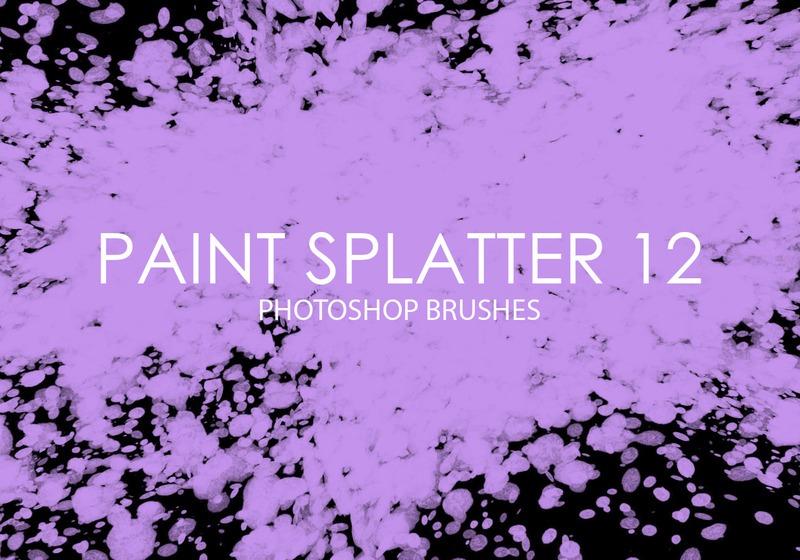 Free Paint Splatter Photoshop Brushes 12 Photoshop brush