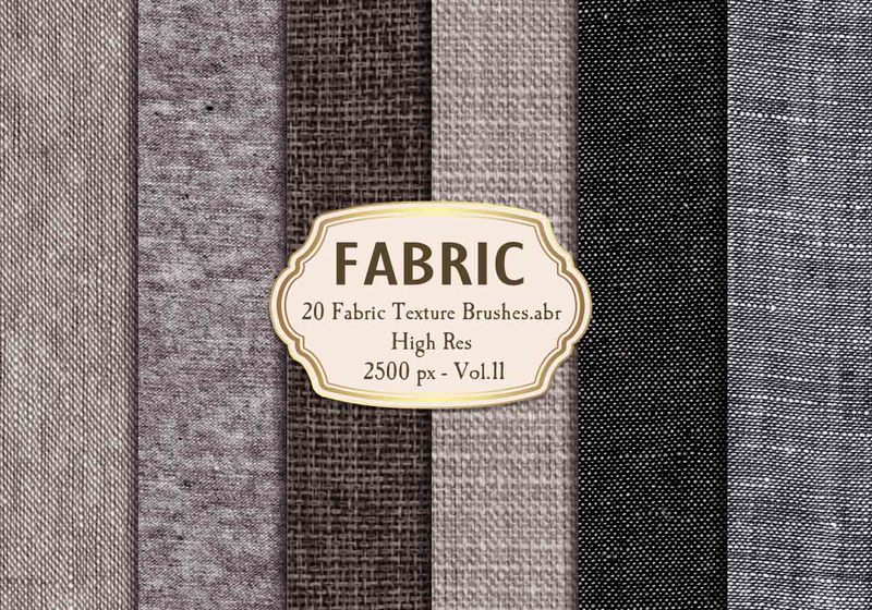 20 Fabric Texture Brushes Vol.11 Photoshop brush