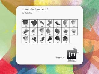 20 Watercolor Brushes V1 Photoshop brush