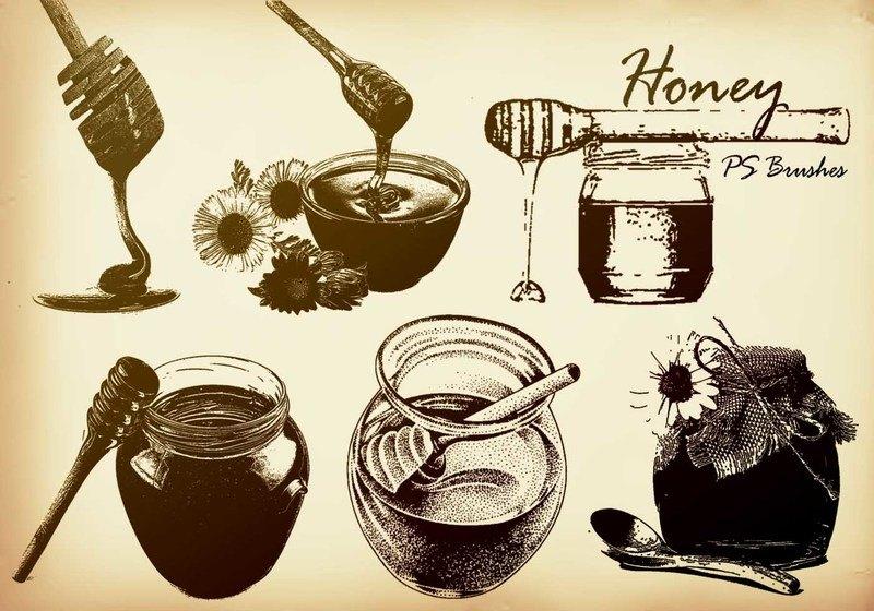 20 Honey PS Brushes abr.  vol.1 Photoshop brush