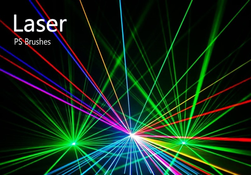 20 Laser PS Brushes abr. vol.5 Photoshop brush