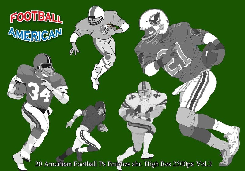 American Football Ps Brushes  Vol.2 Photoshop brush