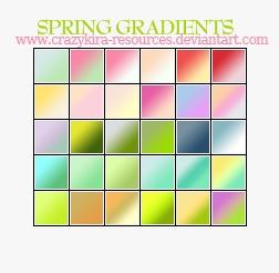 Spring Gradients Photoshop brush