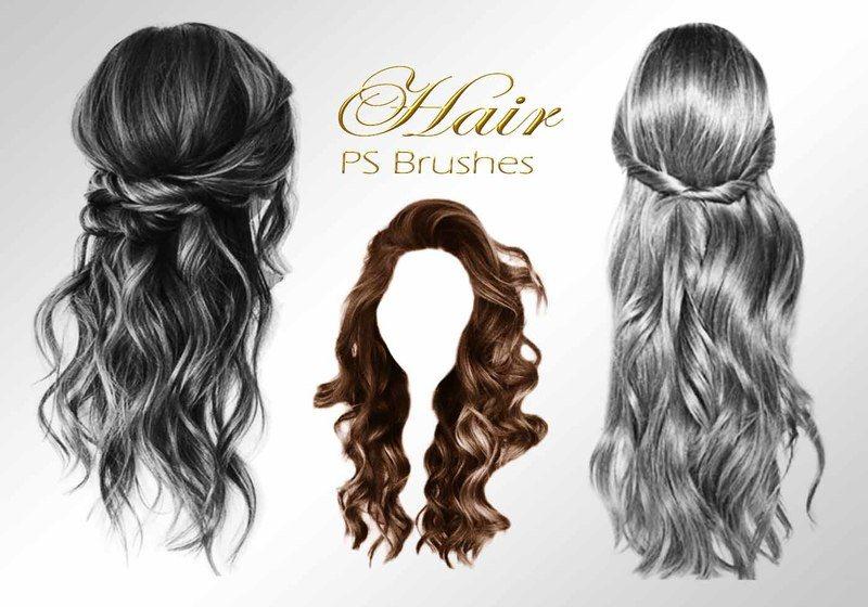 20 Hair Female PS Brushes abr. vol.1 Photoshop brush