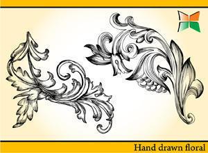Hand Drawn Floral - 2 Photoshop brush