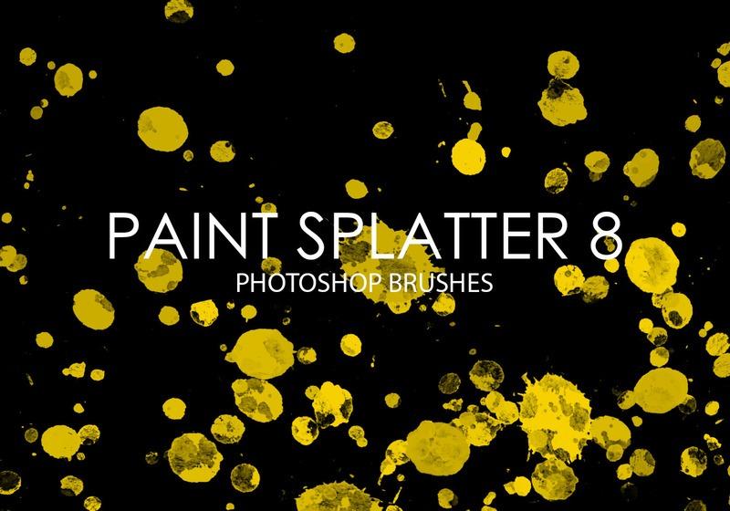 Free Paint Splatter Photoshop Brushes 8 Photoshop brush