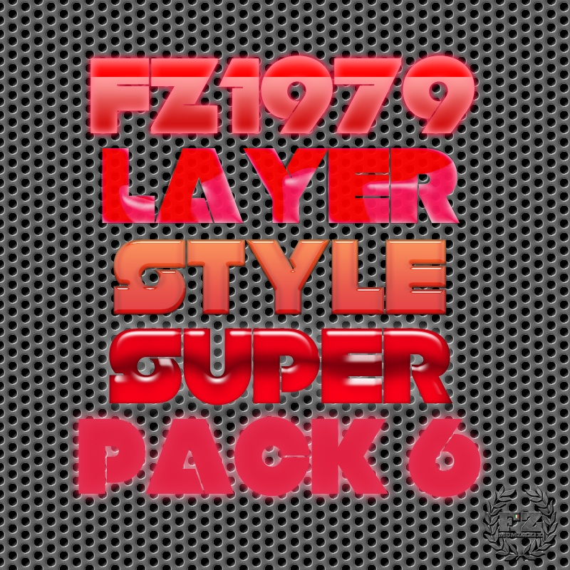 Super pack layer style 6 Photoshop brush