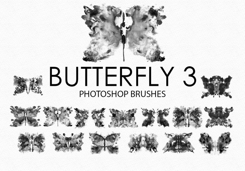 Free Watercolor Butterfly Photoshop Brushes 3 Photoshop brush