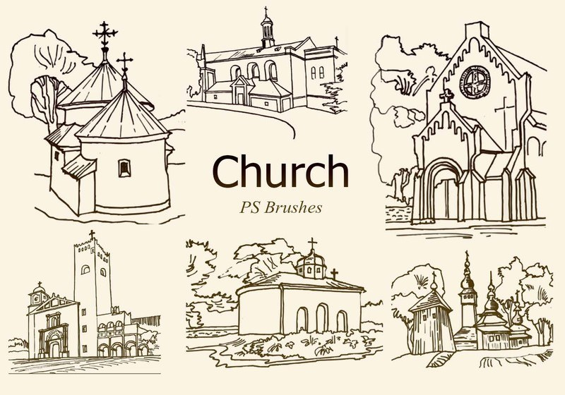 20 Church PS Brushes abr. vol.5 Photoshop brush