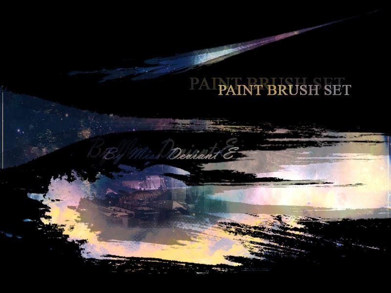 Paint Brush set Photoshop brush