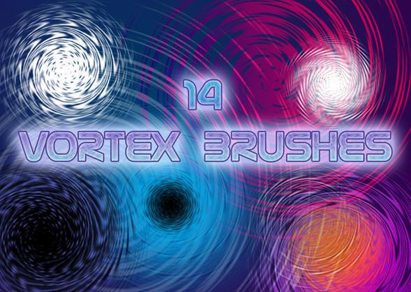 14 Vortex Spiral Brushes Photoshop brush