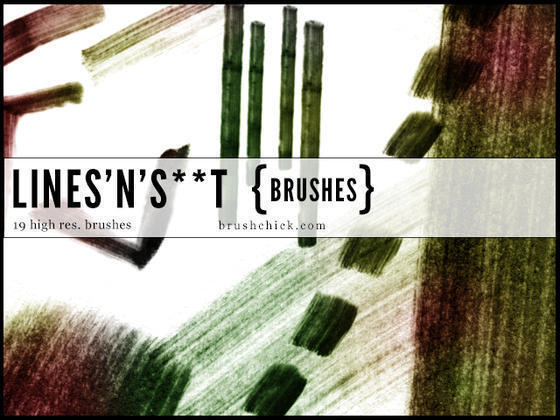 Lines n S**t Grunge Line Brushes Photoshop brush